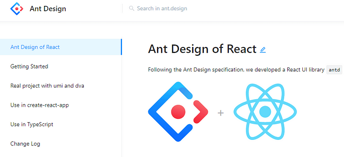 Ant Design - UI framework